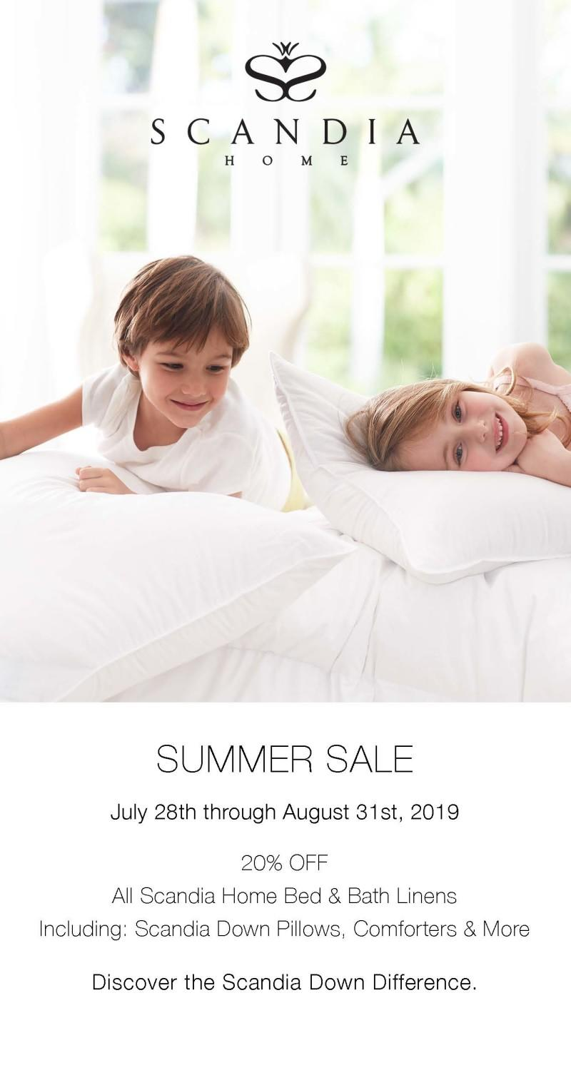 Save 20% on all Scandia Home Bed & Bath Linens from Scandia Down