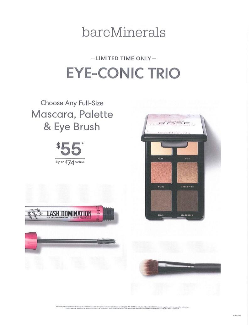 "Limited Time only ""Eye-Conic Trio""! from bareMinerals"
