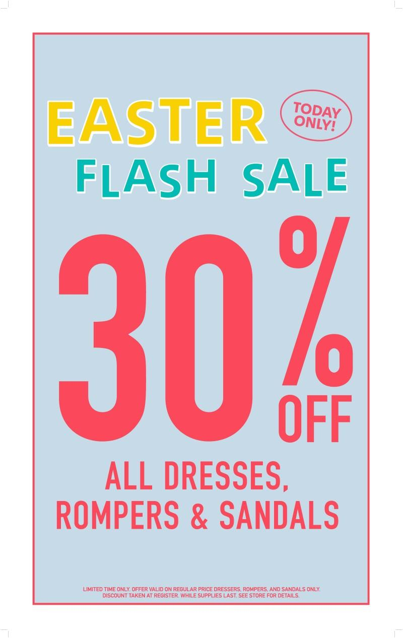 Save 30% on all Dresses, Rompers & Sandals from Forever 21