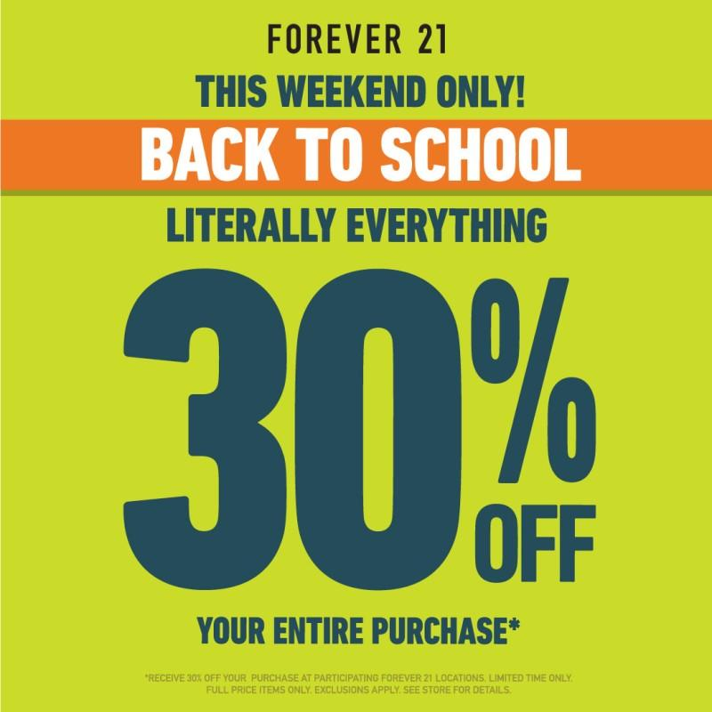 Back To School Sale from Forever 21