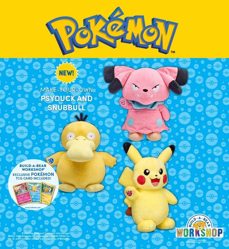 Calling All Pokemon Trainers! Make Your Own Psyduck and Snubbull from Build-A-Bear Workshop