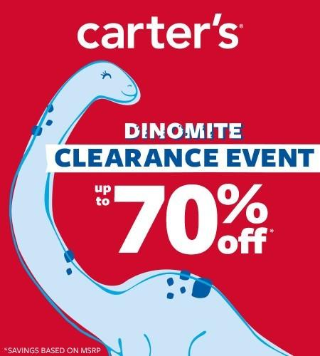 Carter's Dinomite Clearance Event from Carter's Oshkosh