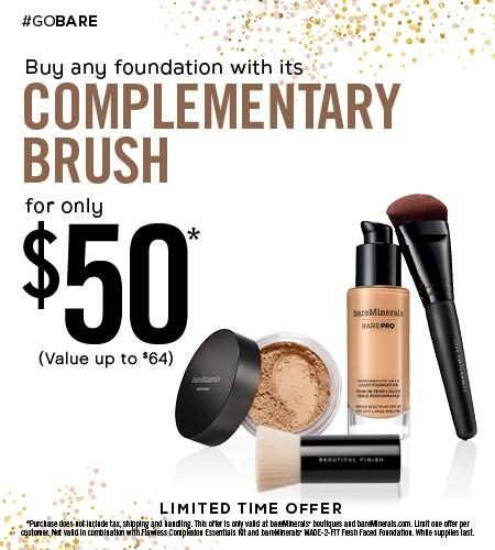 Foundation and Brush Bundle for $50