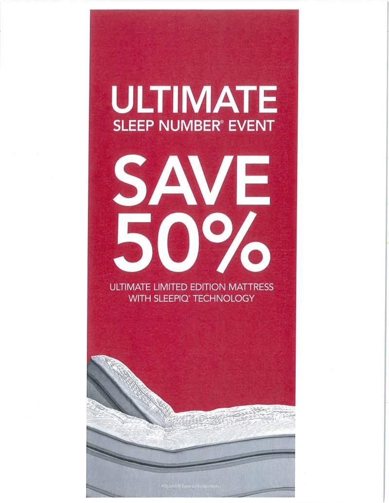 Save 50% - Ultimate Limited Edition Mattress with SleepIQ Technology from Sleep Number By Select Comfort