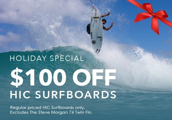 Take $100 off HIC Surfboards