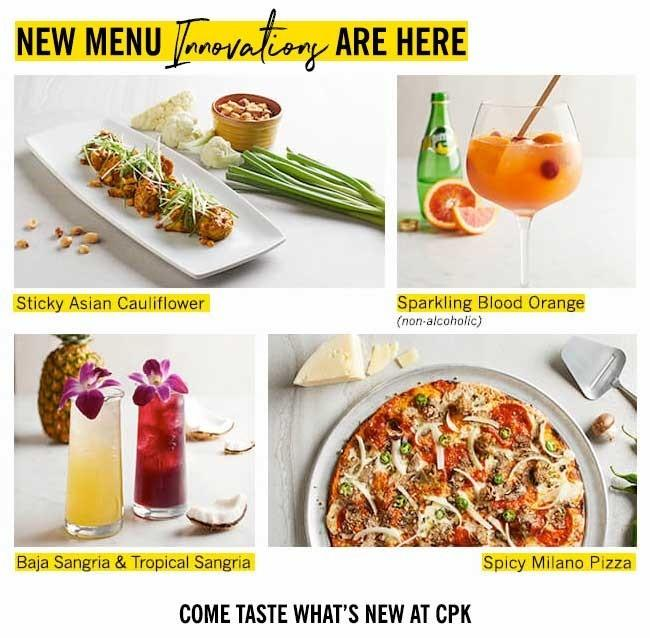 New Menu Innovations are Here! from California Pizza Kitchen