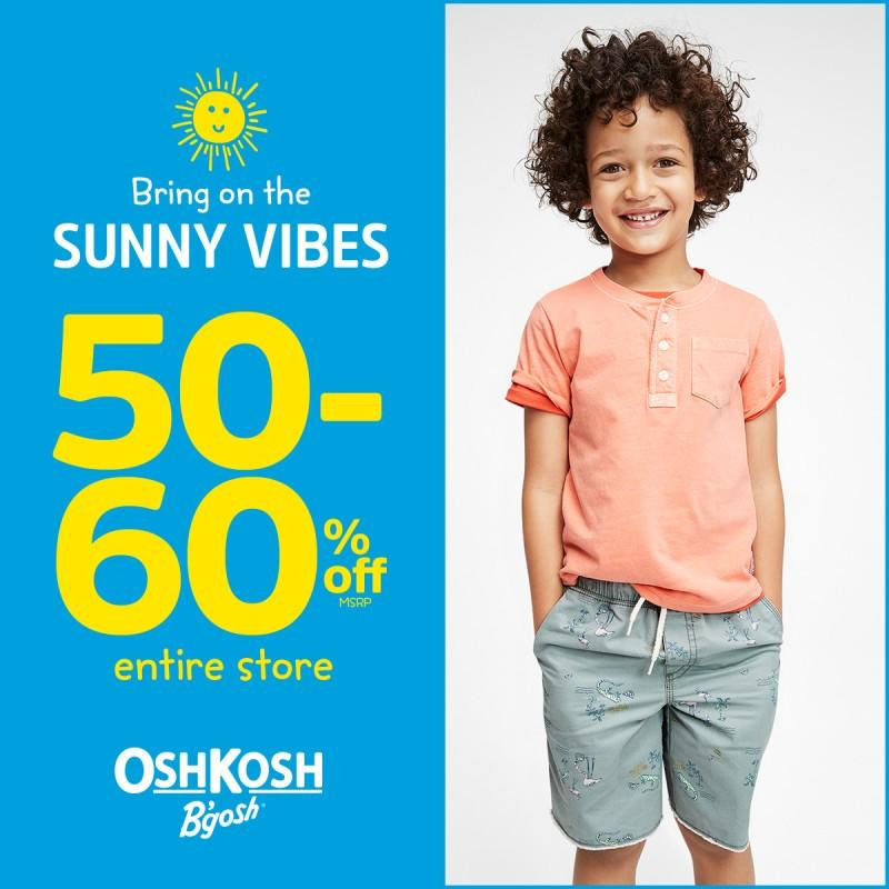50-60% off the entire store from Carter's Oshkosh