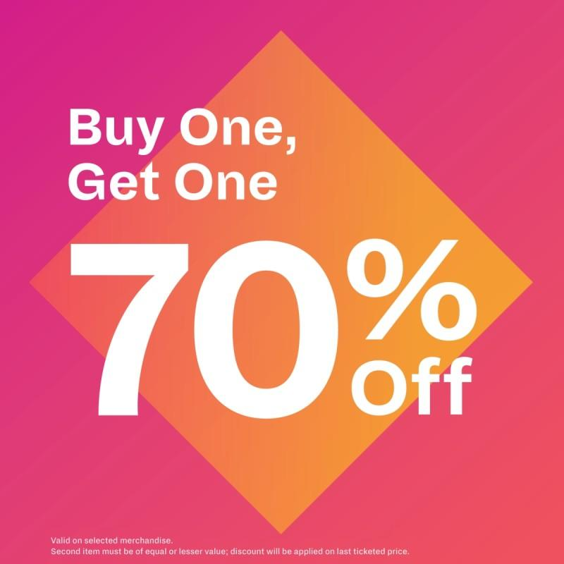 Buy One, Get One 70%OFF from Spring