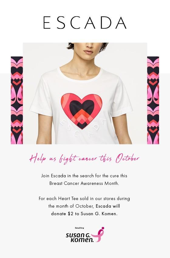 Help Us Fight Cancer This October from Escada