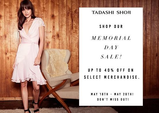 Memorial Day special offer from Tadashi Shoji