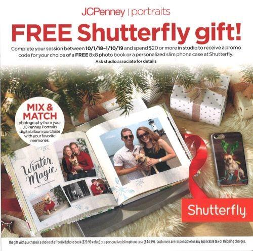 Free Shutterfly Gift from JCPenney Portraits from JCPenney