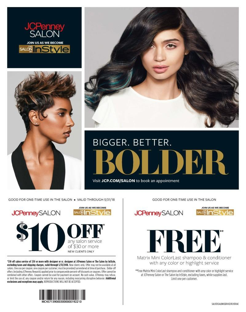 Join us as we become The SALON BY InStyle from JCPenney