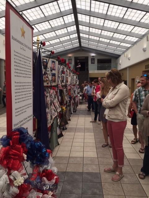 REMEMBERING OUR FALLEN HEROES ON DISPLAY AT OAK VIEW MALL