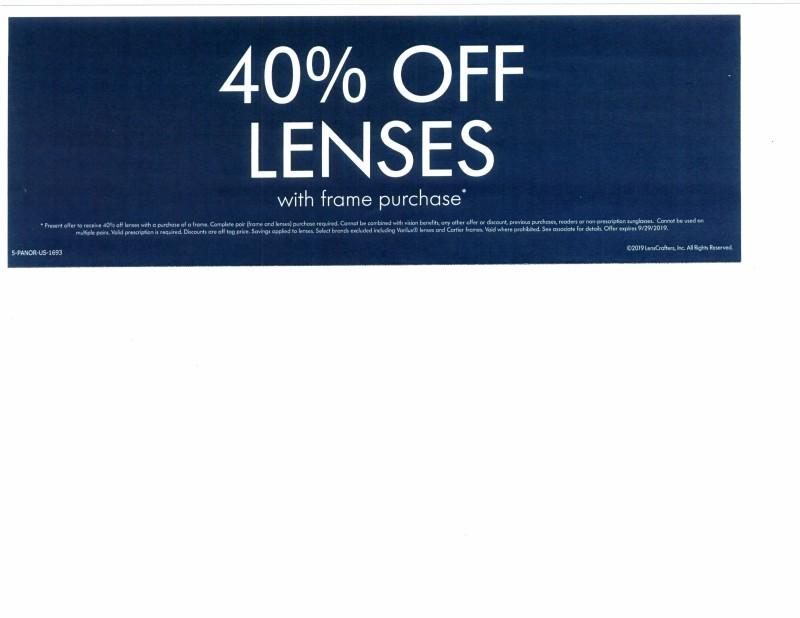 40% Lenses! from LensCrafters