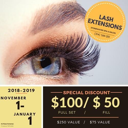 Lash Extension Special from Stonewater Spa