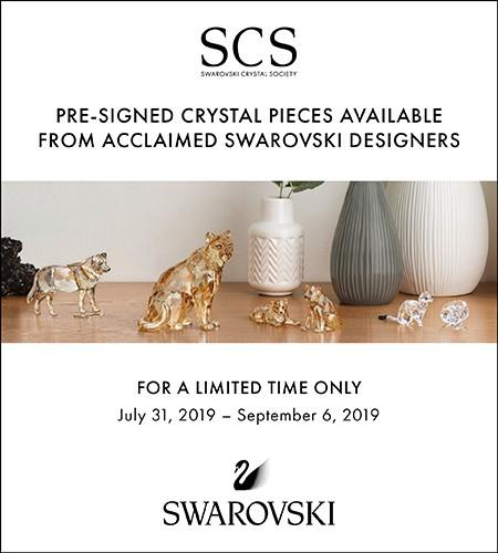 Pre-Signed Swarovski Designer Pieces Available from Swarovski