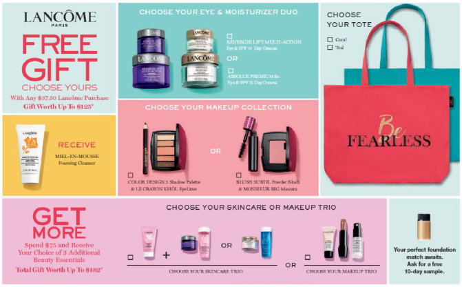 Lancome's Summer Gift with Purchase from Dillard's