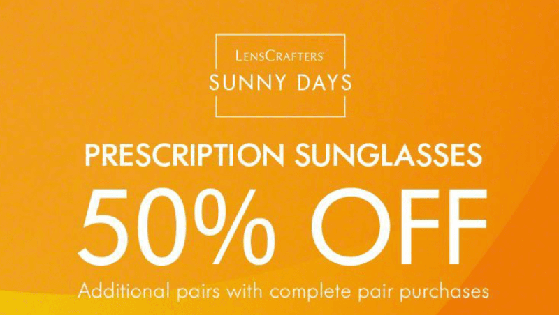 Save 50% from LensCrafters