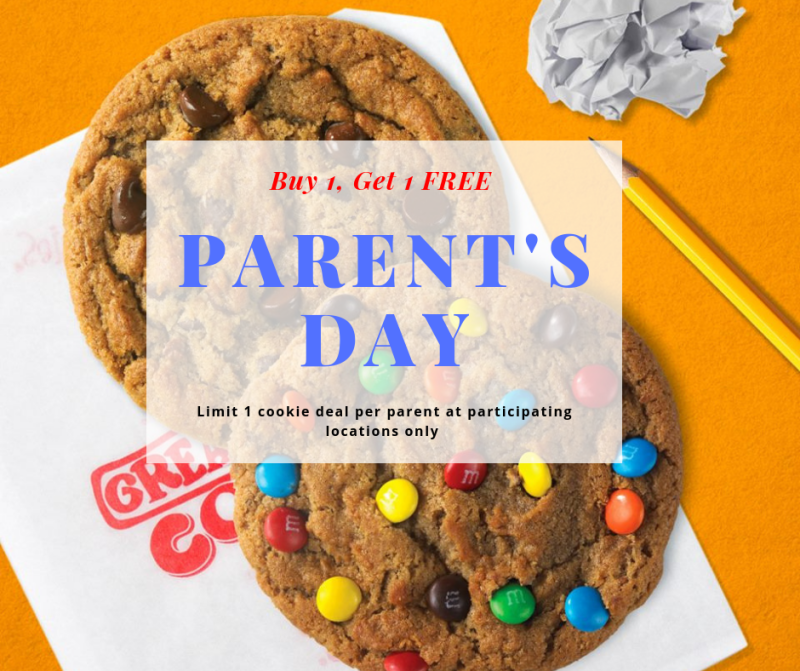 Parents' Day Buy 1, Get 1 Free from Great American Cookie