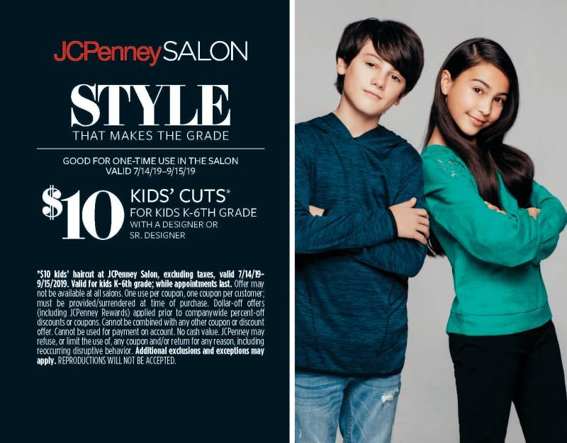 $10 kids haircuts at JCPenney Salon from JCPenney