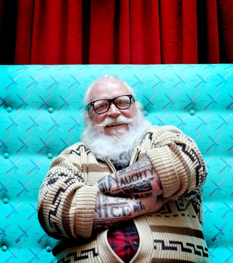 Hipster Santa at Pioneer Place