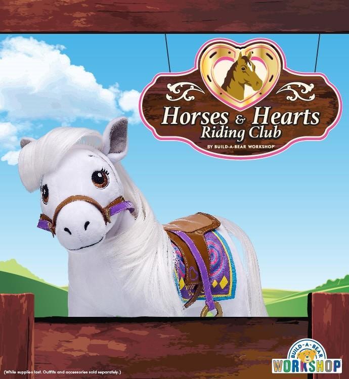 Horses & Hearts Riding Club Grey Arabian from Build-A-Bear Workshop
