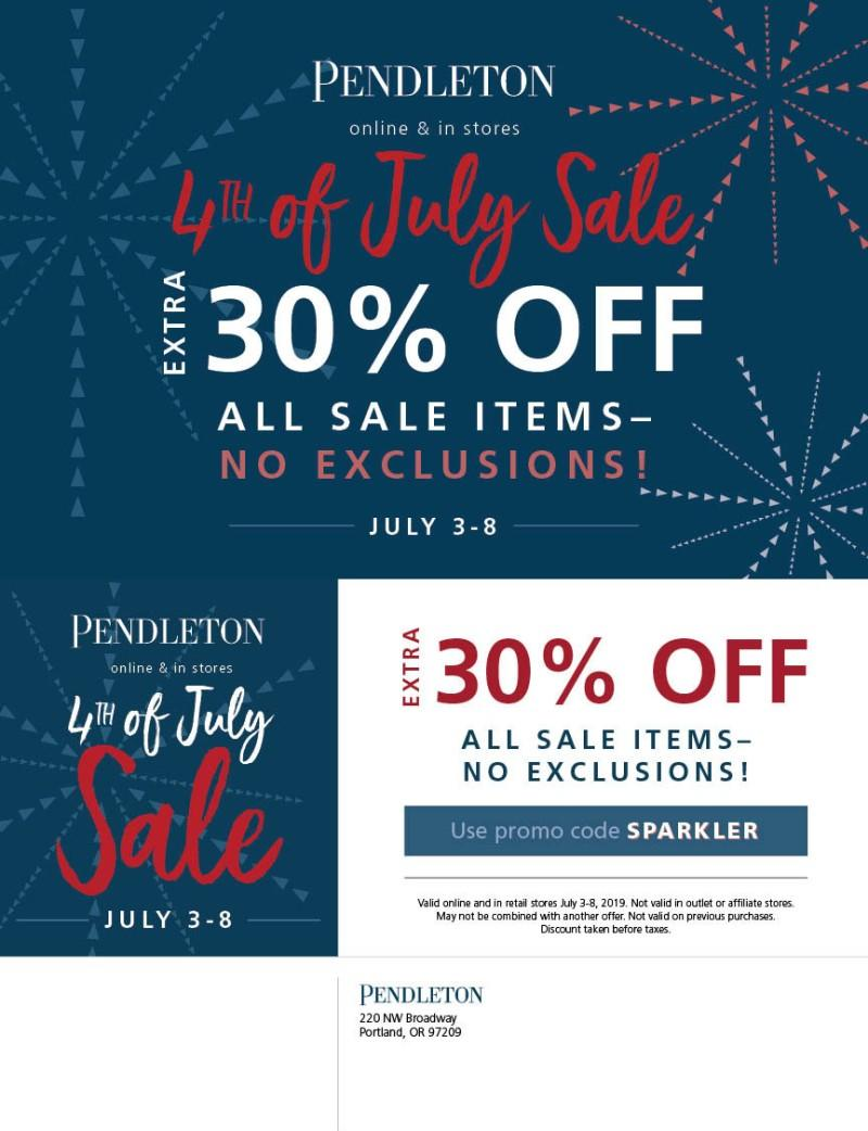 4th of July sale from PENDLETON