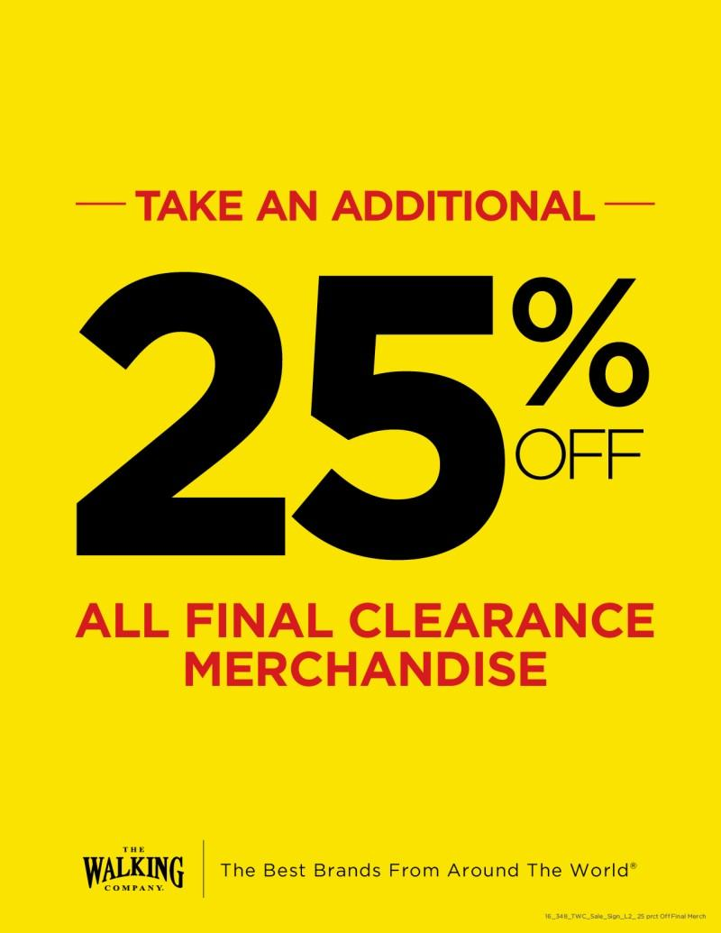 Take Additional 25% off Sale and Clearance