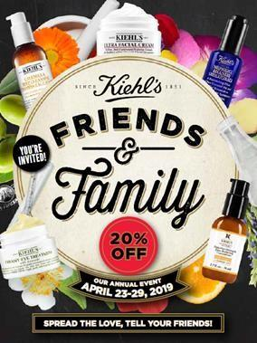 Friends & Family Event from Kiehl's