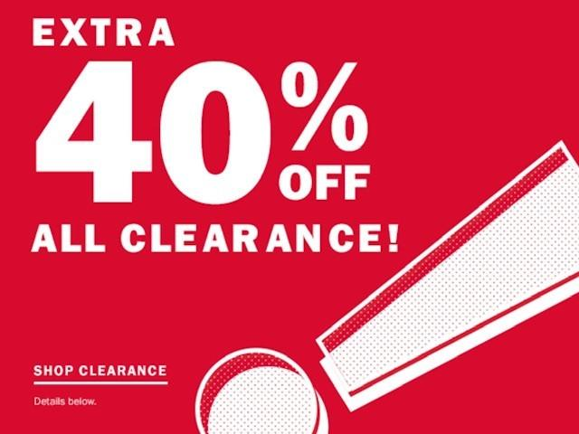 Additional 40% off Clearance from Old Navy
