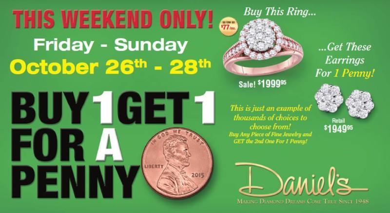 Penny Sale from Daniel's Jewelers