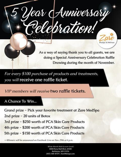 5 Year Anniversary Celebration from Zare Medspa And Wellness
