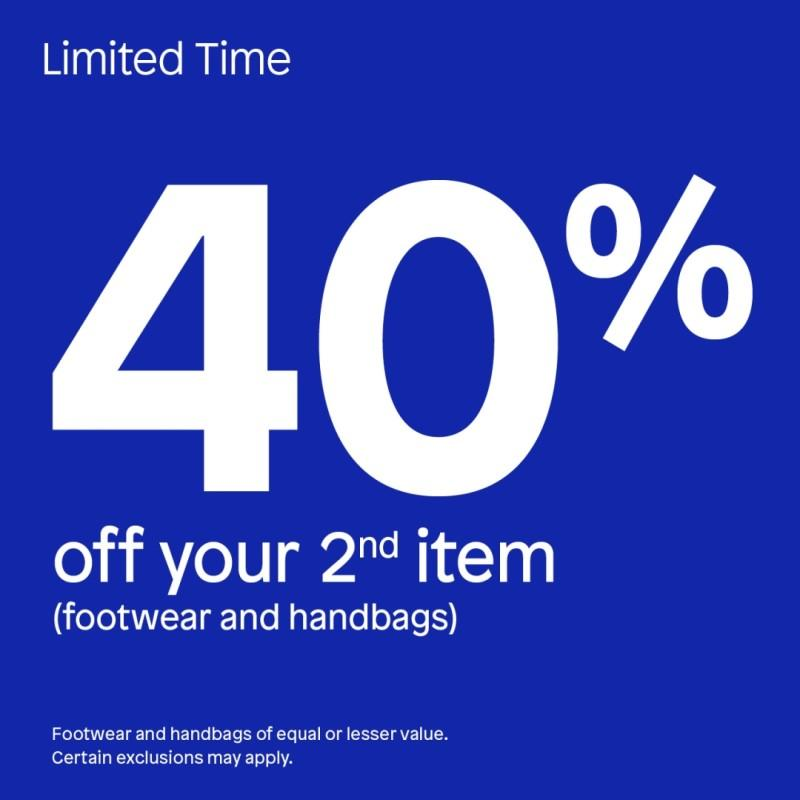 Get 40% off your second item! from ALDO Shoes