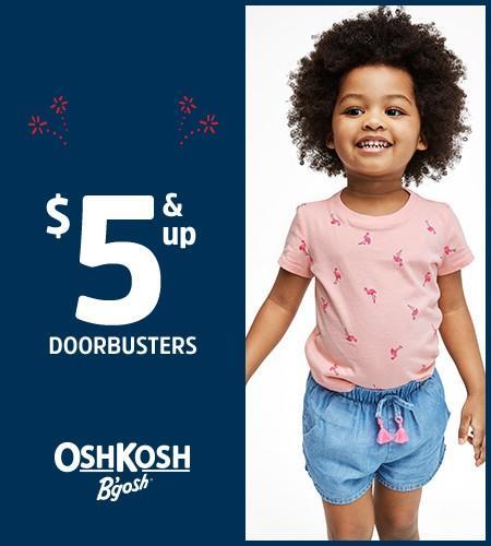 Oshkosh Doorbuster Savings from Carter's Oshkosh