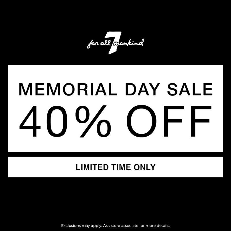 MEMORIAL DAY SALE from 7 for All Mankind
