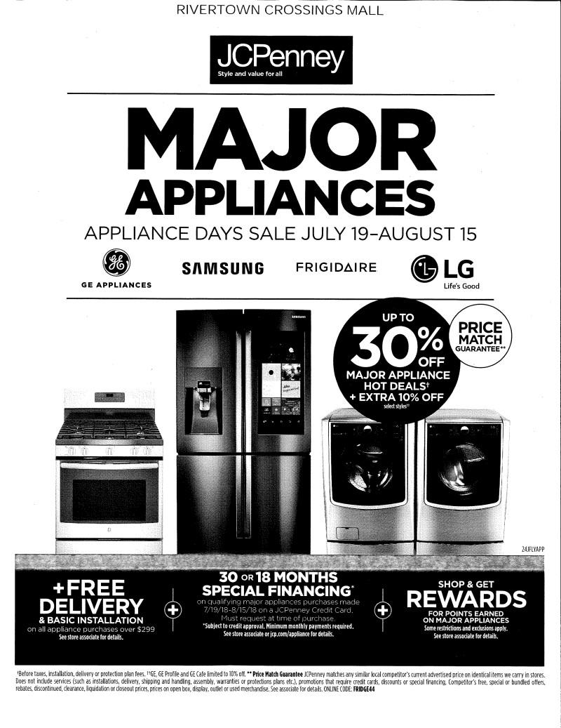 Appliance Days Sale from JCPenney