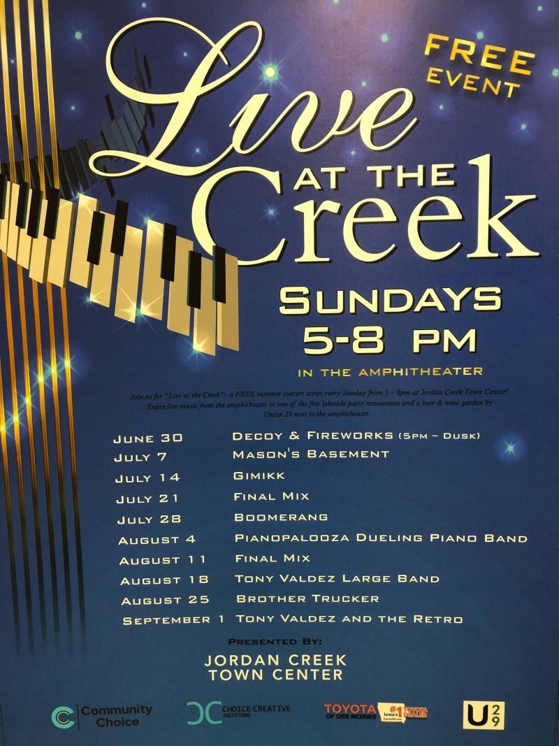 Live at the Creek Concert Series at Jordan Creek Town Center