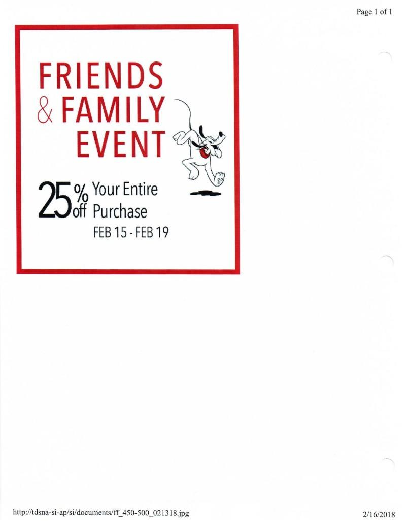 Disney's Friends & Family Event!!