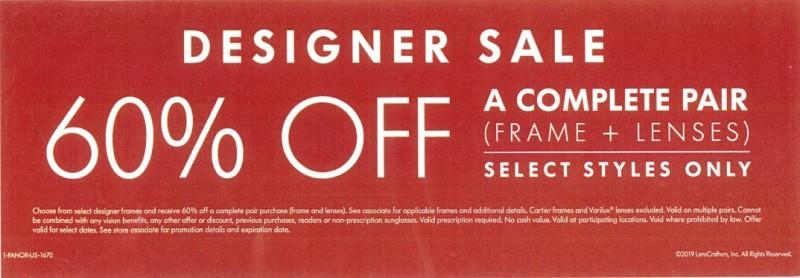 Designer Sale from LensCrafters