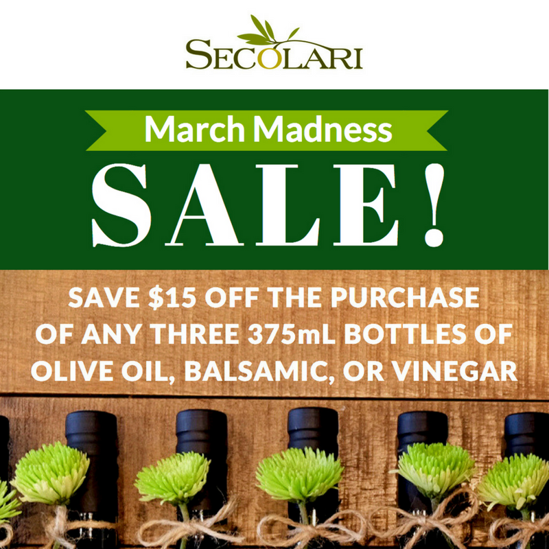 March Madness Sale from Secolari