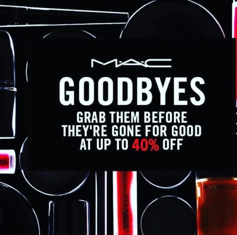 40% off from MAC Cosmetics