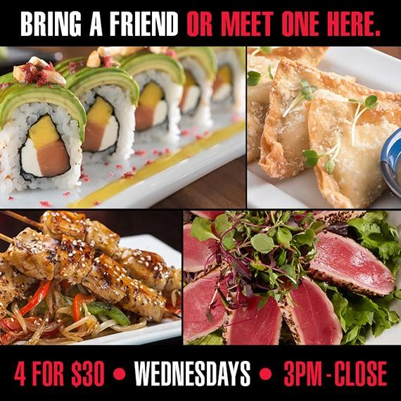 Pick 4 for $30 Wednesday