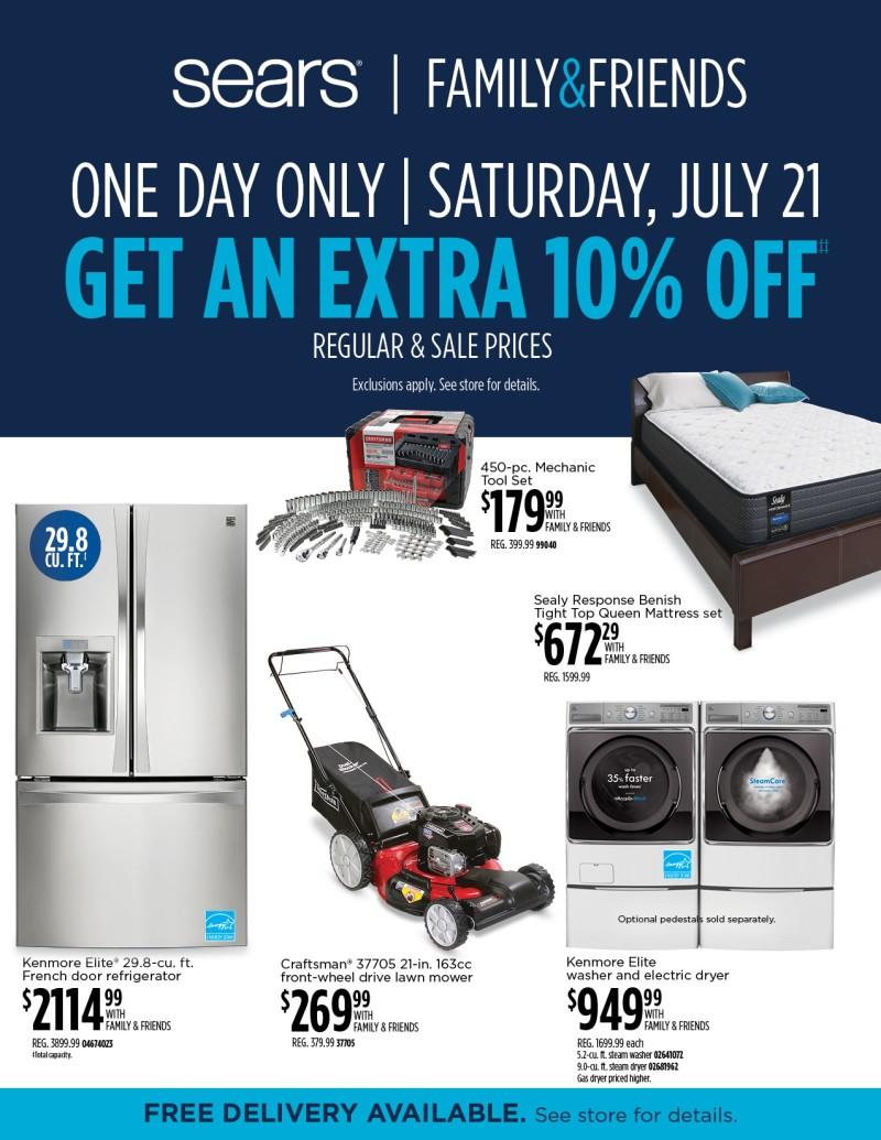 Family & Friends Event! from Sears