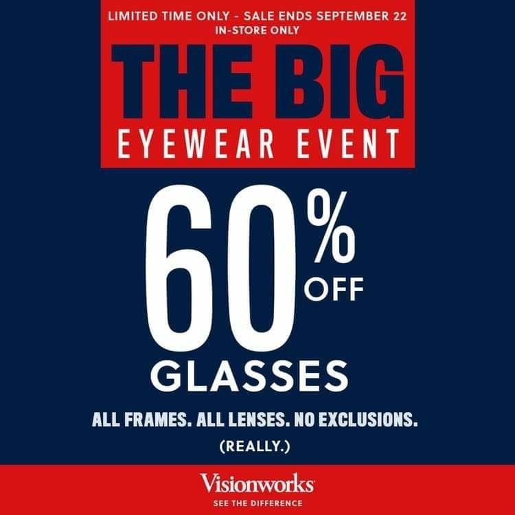 60% off from Visionworks