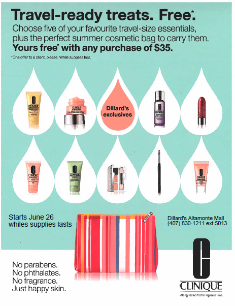 Clinique Summer Gift with Purchase at Dillard's from Dillard's