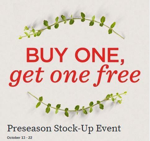 Preseason Stock-Up Event October 13-22