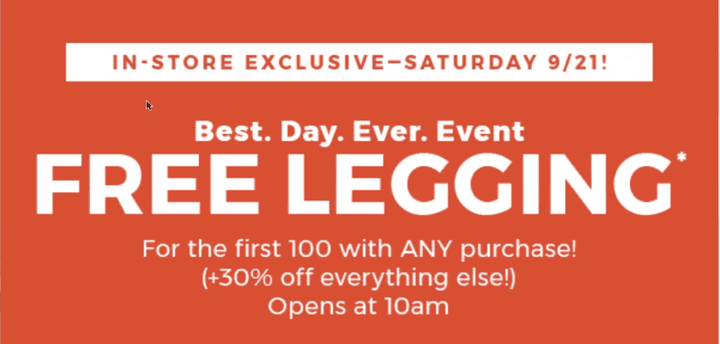 FREE Mid-Rise PureLux Leggings from Fabletics