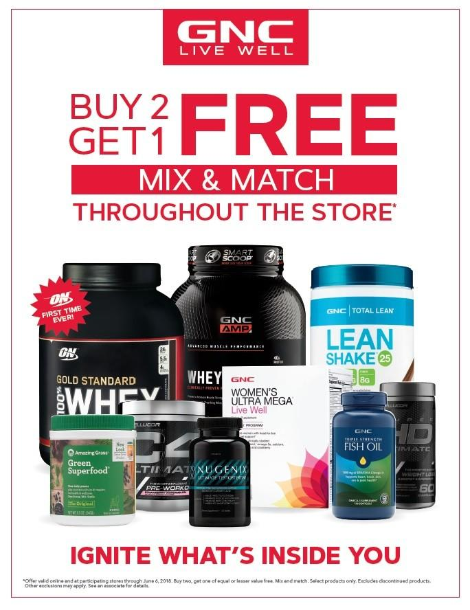 Special offer from GNC Live Well