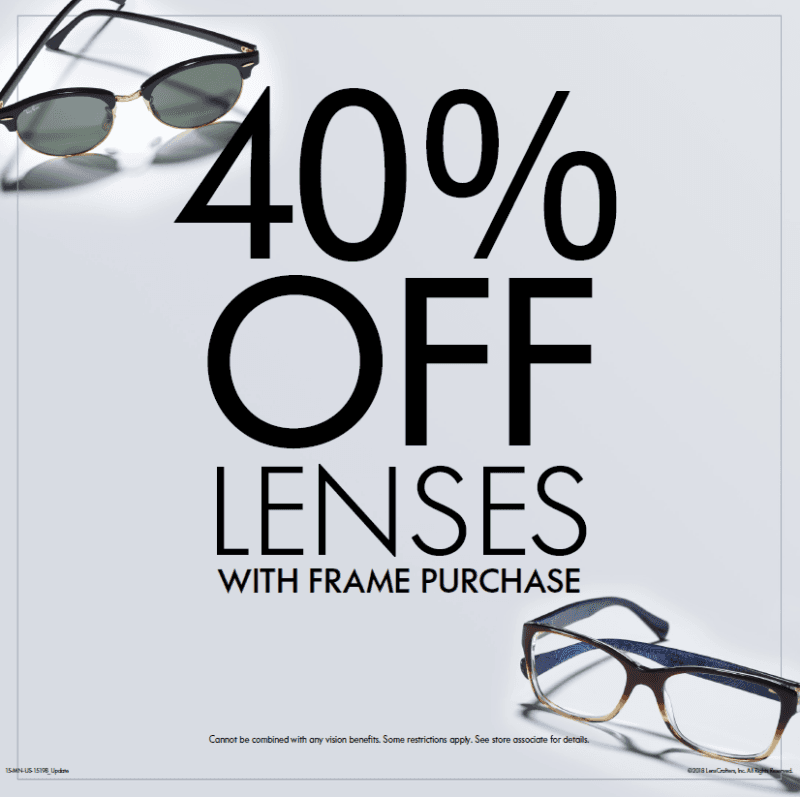 40% Off from LensCrafters