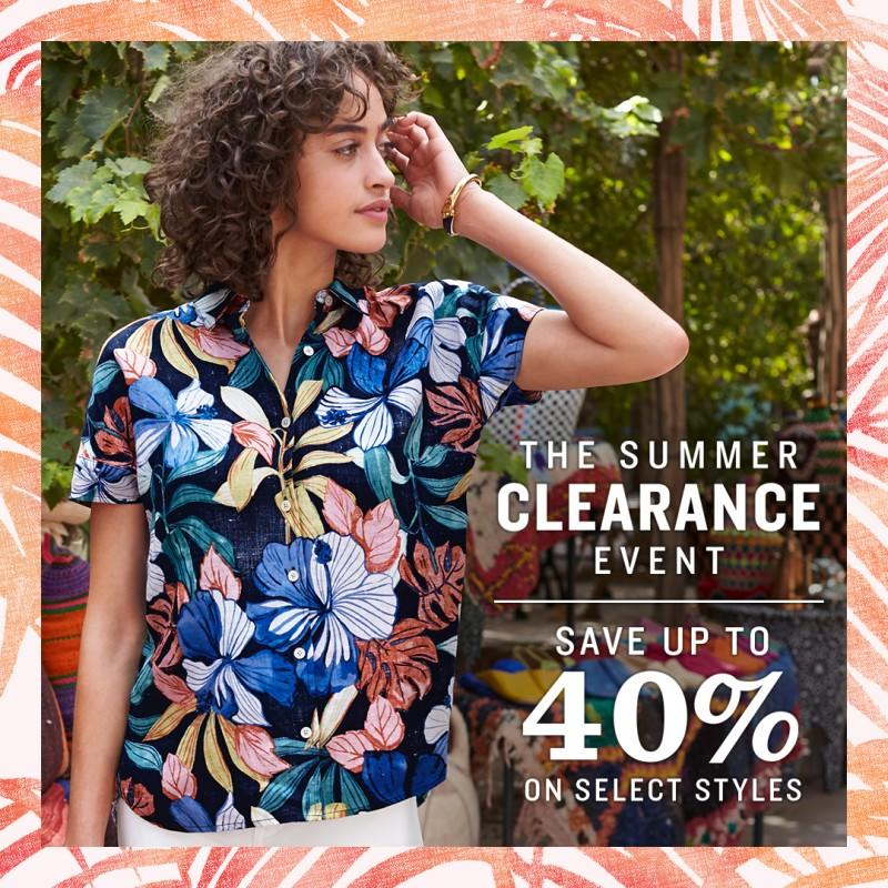 The Summer Clearance Event from Tommy Bahama
